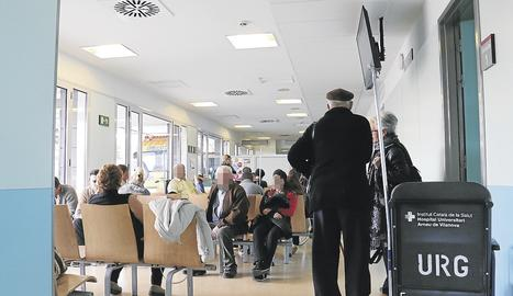 La sala d'espera d'un centre sanitari.