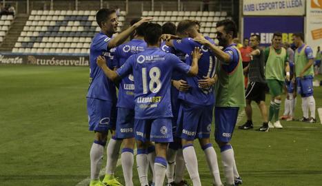 A diferència de la passada setmana, el Lleida no ha pogut celebrar avui un triomf a casa.