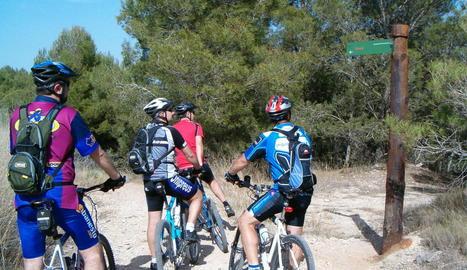 El Segrià vol promocionar el turisme de bici de muntanya.