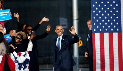 Obama va participar ahir en un acte a favor de Hillary Clinton.