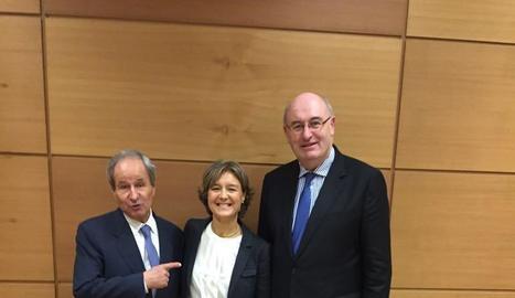 Llorens, García Tejerina i Hogan, ahir a Madrid.