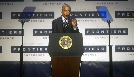 El president dels EUA, Barack Obama, aquest dijous a Pittsburgh.