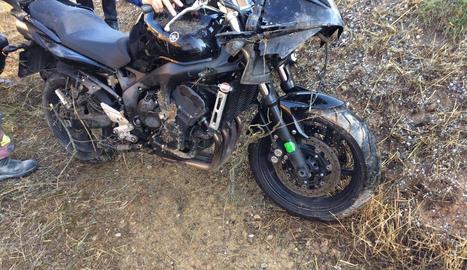 Foto de la moto sinistrada.