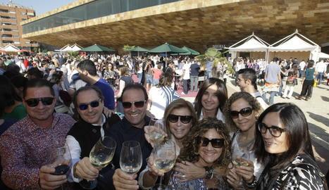 Una edició anterior de la Festa del Vi de Lleid