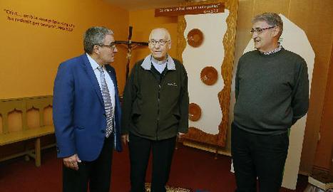 Un moment ahir de la visita de l'alcalde a la Fundació Jericó.