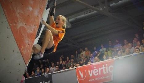 Mari Alarcón durant la competició disputada a Barcelona en què es va alçar amb el títol espanyol.