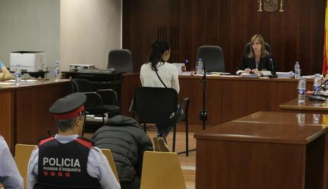 Una vista de la sala de l'Audiència durant el segon dia de judici pel crim de la Mariola.