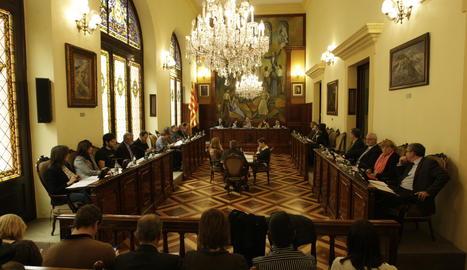 Un ple de la Diputació de Lleida.