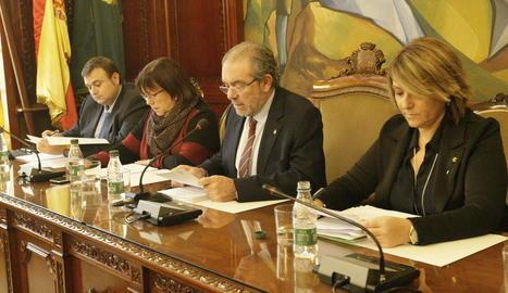 Imatge de la sessió del ple de la corporació.