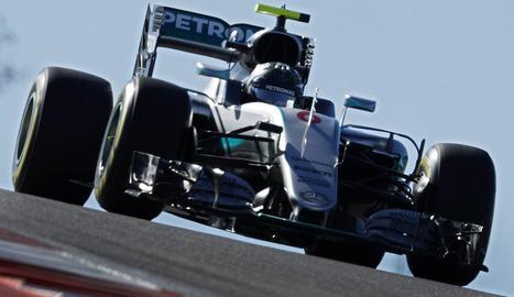 Lewis Hamilton, durant la sessió d'ahir.