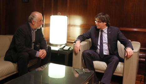 Joan Perelada es va entrevistar dijous amb Carles Puigdemont.