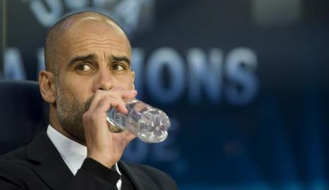 Pep Guardiola al Barça-City.