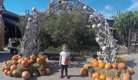 El Parc estava perfectament ambientat pel Halloween.
