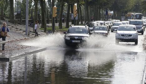 Pluja acumulada a l'avinguda de Madrid