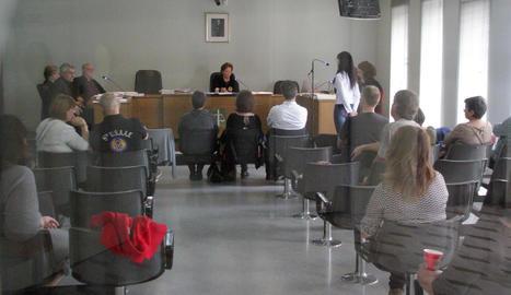 Un moment del judici celebrat ahir per aquests fets als jutjats del Canyeret de Lleida.