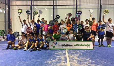 A la imatge, els participants de la categoria alevina que van prendre part en la tercera prova del torneig.