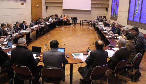 Una reunió del consell de govern de la UdL