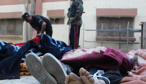Algunes de les víctimes després de l'atac d'ahir a un centre d'entrenament policial a Quetta.