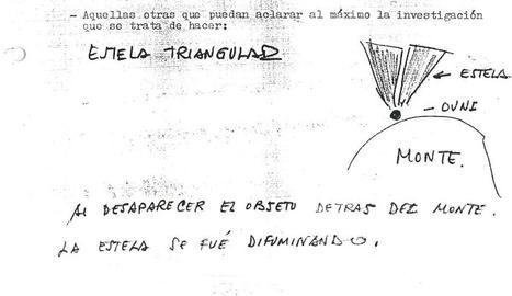 Detall d'un dels informes sobre albiraments d'ovnis a Lleida.