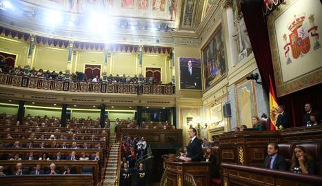 Mariano Rajoy durant el seu discurs al debat d'investidura