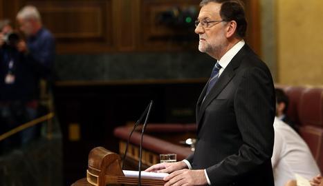 Mariano Rajoy durant el debat d'investidura aquest dissabte