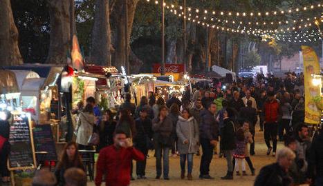 Afluència de públic ahir en el darrer dia del festival Rumm.