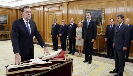 Mariano Rajoy, ahir durant el jurament com a president del Govern al palau de la Zarzuela.