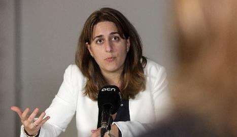 La coordinadora general del PDECat, Marta Pascal, va instar ahir la CUP a avançar en els pressupostos.