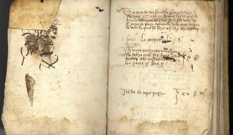 El llibre dipositat a l'Arxiu data del segle XV.