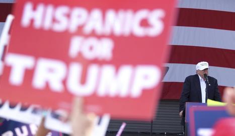 L'aspirant republicà a la Casa Blanca durant un míting aquest dimecres a Miami.