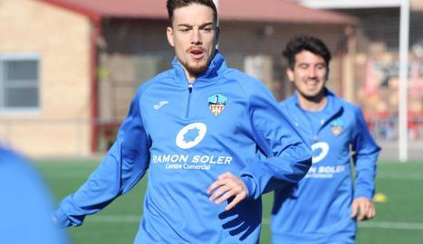 Toño Vázquez, durant l'entrenament d'ahir.
