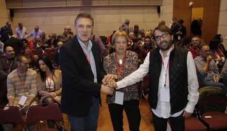 Jose Luis Aguilà, Camil Ros i Núria Solé aquest dimecres a la UdL.