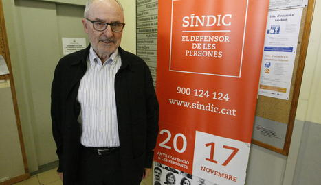El Síndic de Greuges, aquest dijous a Lleida.