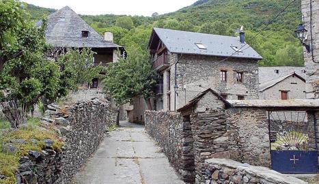 Imatge d'arxiu del poble de Sorpe, al municipi d'Alt Àneu.
