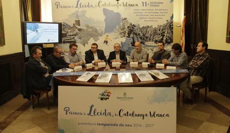L'acte de presentació de la temporada d'esquí a la Diputació de Lleida
