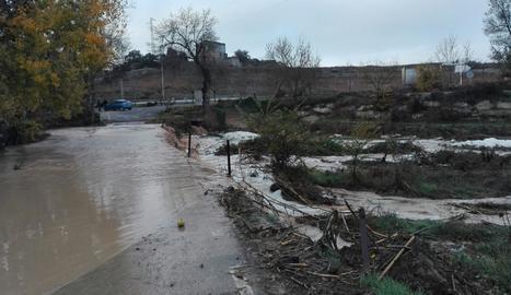 El riu Sió aquest dijous al matí a Castellnou d'Ossó