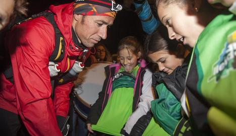 Raül Arenas, un atleta solidari a Tàrrega