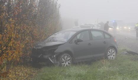 Un dels vehicles implicats en l'accident d'ahir a la C-12.