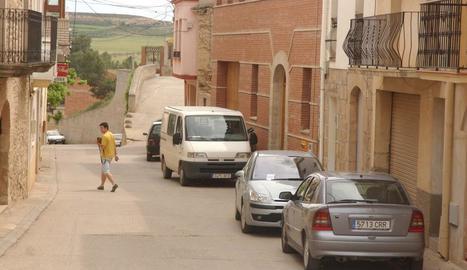 Vista d'arxiu del centre urbà de Sunyer.