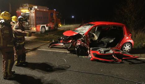 Un dels vehicles implicats en l'accident.