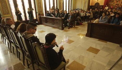L'acte ha tingut lloc al saló de plens de la Paeria.