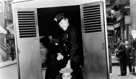 Una seqüència de la pel·lícula muda de Buster Keaton.