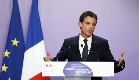 El primer ministre gal, Manuel Valls, ahir a Nancy.