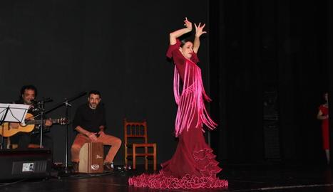 Un moment del festival flamenc ahir a l'Escorxador.