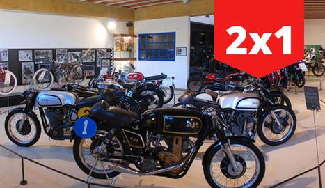 Vista d'una de les sales del Museu de la Moto de Bassella