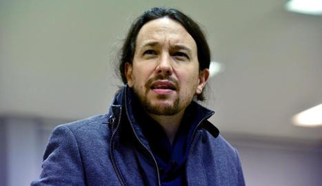 El secretari general de Podem, Pablo Iglesias.