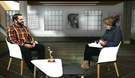 Albert Martínez, durant l'entrevista amb Glòria Farré.