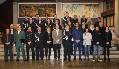 L'ajuntament de Balaguer va celebrar ahir una recepció amb familiars i altres cossos policials.