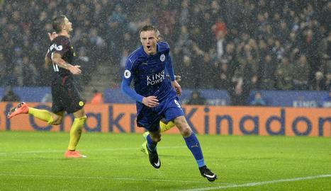 El Leicester, vigent campió, goleja el City de Guardiola, en crisi
