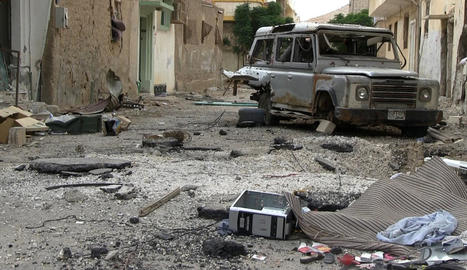 Imatge d'arxiu de la devastació a la ciutat de Palmira.